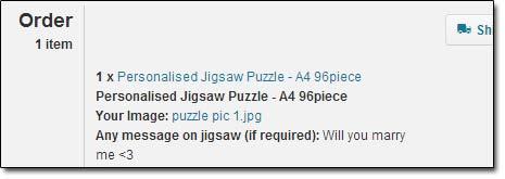 Personalised Jigsaw Order